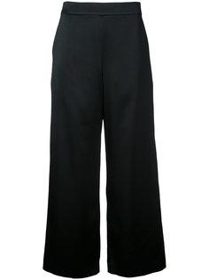 атласные укороченные широкие брюки Cityshop