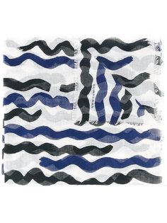 полупрозрачный шарф в полоску Burberry