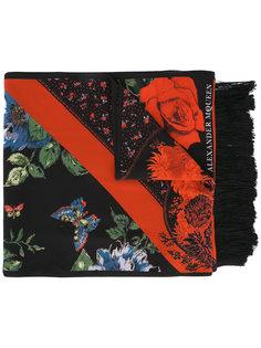шарф с цветочным рисунком Alexander McQueen
