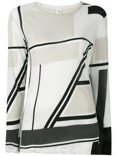 pattern long-sleeve T-shirt Ys Y`s