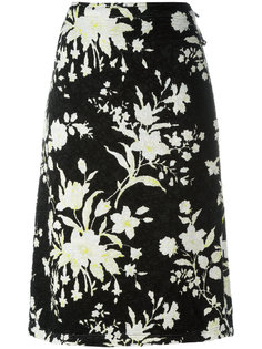 юбка с цветочным принтом Céline