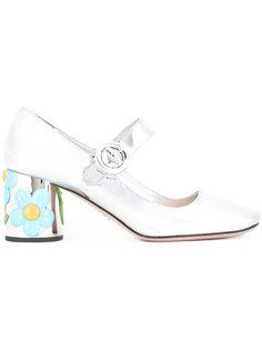 туфли с декорированными каблуками Prada