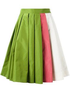юбка дизайна колор-блок Prada