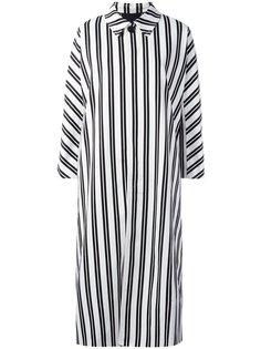 полосатое платье миди  Balenciaga