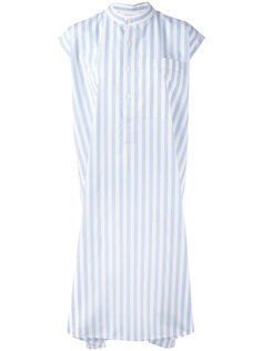 полосатое платье свободного кроя Balenciaga