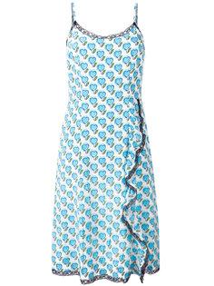 платье с рисунком из сердец Prada