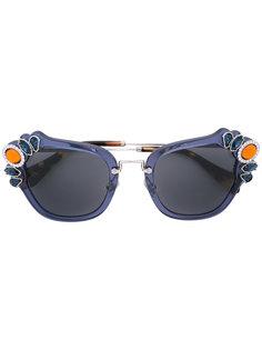 декорированные солнцезащитные очки Miu Miu Eyewear