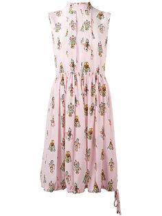 платье с принтом Prada