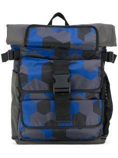 большой рюкзак с геометрическим принтом Emporio Armani