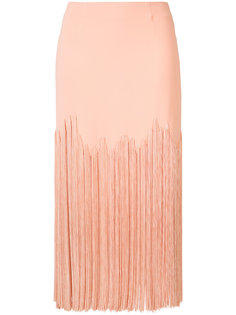fringed midi skirt Sally Lapointe
