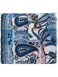 шарф с узором пейсли и эффектом градиента Etro