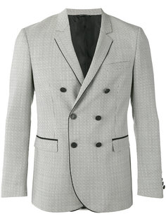 patterned double-breasted jacket Tonello