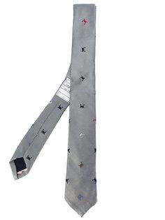 галстук с узором из крабов Thom Browne
