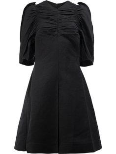 расклешенное платье с рукавами фонариком Céline