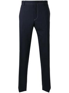 брюки с контрастной строчкой Prada