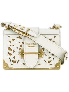 сумка-сэтчел с тисненой отделкой Prada