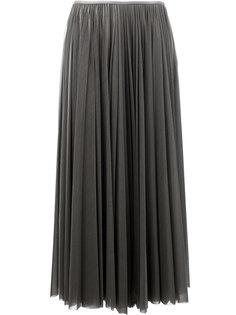 длинная плиссированная юбка Céline