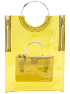 ring handle vinyl tote bag Toga