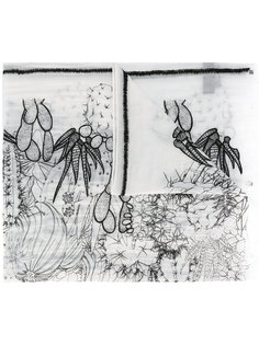cactus motive print scarf Ps By Paul Smith
