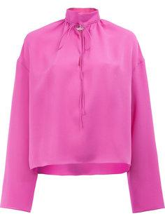 блузка с воротником-стойкой Balenciaga