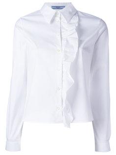 рубашка с оборками Prada