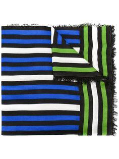 полосатый шарф с бахромой Faliero Sarti
