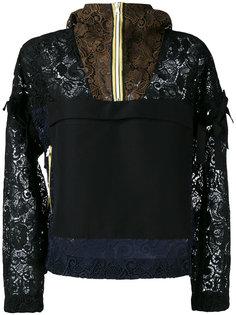 panelled lace hoodie Nº21