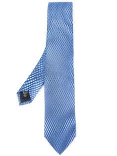 галстук с мелким узором Ermenegildo Zegna