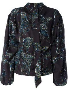 блузка с завязками на горловине и абстрактным принтом Balenciaga