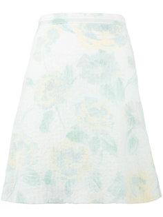 юбка с цветочным узором Céline