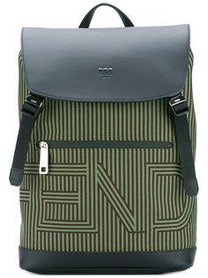 рюкзак в полоску с логотипом  Fendi