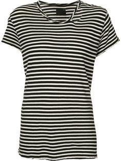 striped distressed trim T-shirt Rta