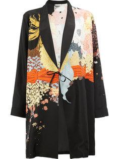 пальто-кимоно с абстрактным принтом Dries Van Noten