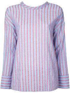 рубашка с полоску с завязкой сзади  Cityshop
