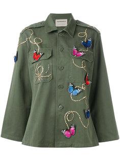 butterfly patch army jacket  Night Market