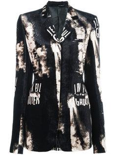 Jean Paul Gaultier Classique patterned logo print jacket Jean Paul Gaultier Vintage