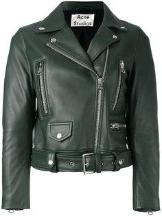 байкерская куртка с ремешком Acne Studios