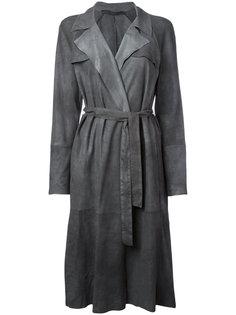 belted trench coat Salvatore Santoro