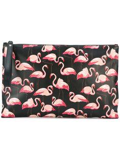 клатч с принтом фламинго Red Valentino