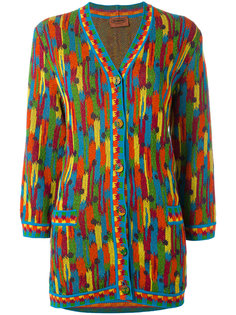 jacquard stripe cardigan Missoni Vintage