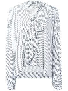 полосатая блузка с завязками на горловине Balenciaga