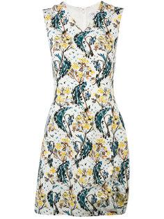 платье с V-образным вырезом и узором Dior