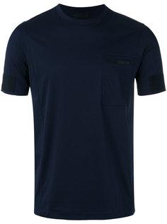 футболка с панельным дизайном Prada