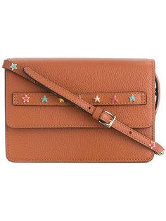 сумка на плечо с заклепками в форме звезд Red Valentino