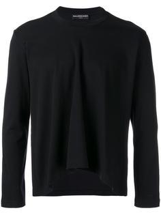 футболка с драпировкой Balenciaga