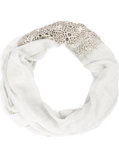 шарф с узором из декоративных вырезов Cutuli Cult