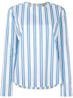 полосатая блузка с квадратным вырезом Balenciaga