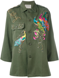 peacock embroidered army jacket  Night Market