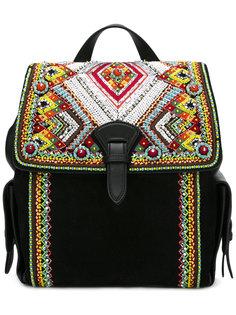 рюкзак с отделкой бисером Roberto Cavalli