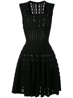 приталенное расклешенное платье Alaïa